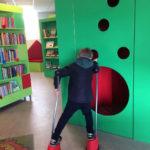 Klatrevæg på Lystrup Bibliotek