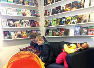 Læse hjørne på Beder bibliotek