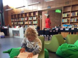 børnebøger på Åby bibliotek