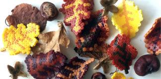Efterårsblade i perler