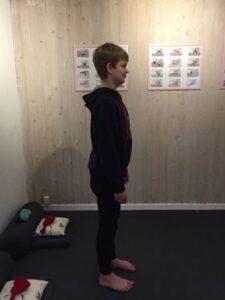 Yoga bjerget barn