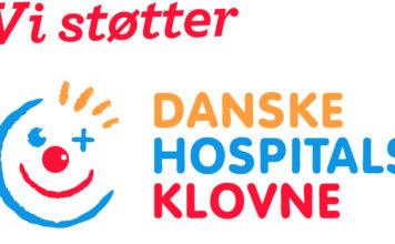 Vi støtter Danske Hospitals Klovne